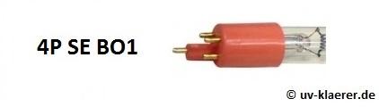 UV-Klärer UVC-Ersatzlampen einseitig gesockelt T5 Sockel rote Fassung 4P SE BO1