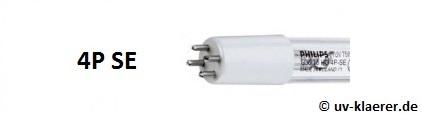 UV-Klärer UVC-Ersatzlampen einseitig gesockelt T5 Sockel weisse Fassung 4P SE