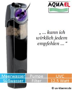 Innenfilter mit UVC Aquael Unifilter UV 1000 - gegen grünes Wasser im Aquarium, UVC Klärer, UV Klärer