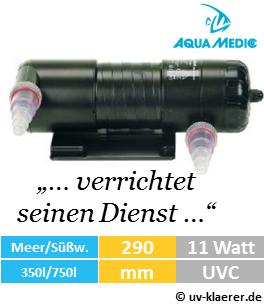aquamedic helix max 11 watt uv-klaerer aquarium gegen algen gruenes wasser truebes wasser keime bakterien uvc