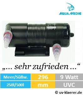 aquamedic helix max 9 watt uv-klaerer aquarium gegen algen gruenes wasser truebes wasser keime bakterien