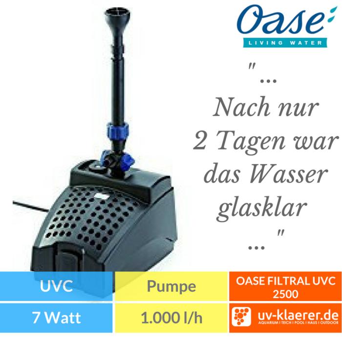 OASE FILTRAL UVC – UNTERWASSERFILTER 2500 Springbrunnenpumpe Unterwasserfilter Teich UVC grünes Wasser trübes Wasser Schwebealgen Algenblüte Teichfilter 9
