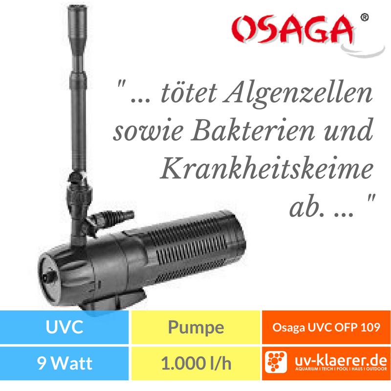 Springbrunnenpumpe Osaga mit integriertem UV-C Klärer OFP-109 oder 209
