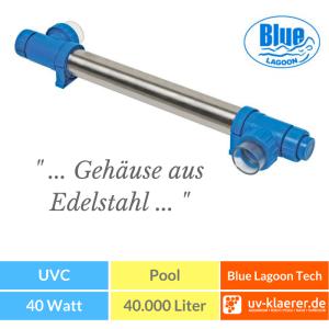 UVC Pool UVC Klärer für Pool Swimmingpool klares Wasser ohne Chlor Blue Lagoon UV-C Tech / 40 W