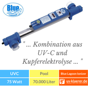 blue lagoon uv c ionizer 40 w uvc kl rer klares und. Black Bedroom Furniture Sets. Home Design Ideas