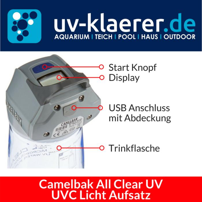 UVC Einheit Camelbak All Clear UV Trinkflasche mit UVC Strahlung Entkeimer