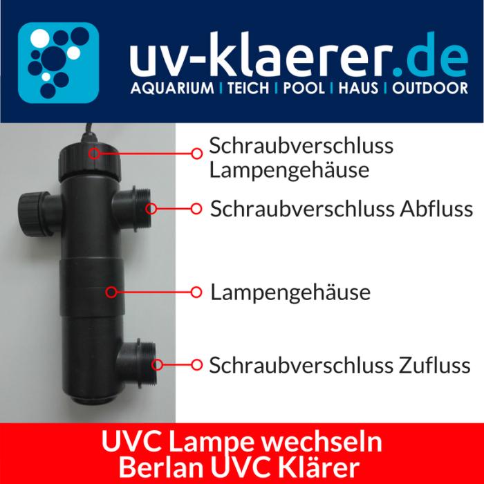 UVC Lampe wechseln Berlan UVC 11 Watt Schritt 1