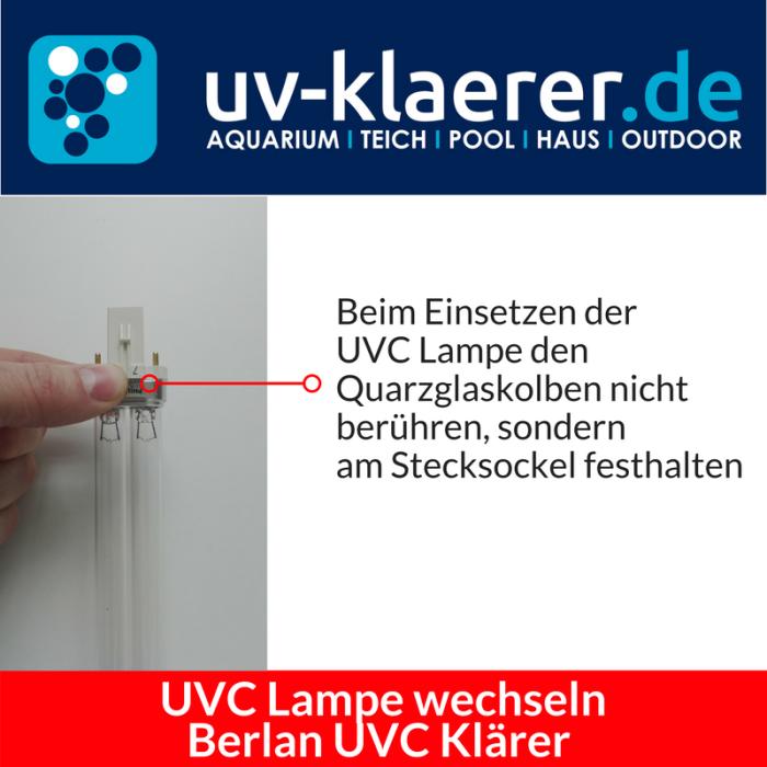 UVC Lampe wechseln Berlan UVC 11 Watt Schritt 5