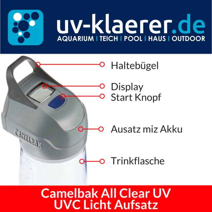 UVC Lampenaufsatz Camelbak All Clear UV Trinkflasche mit UVC Strahlung Entkeimer