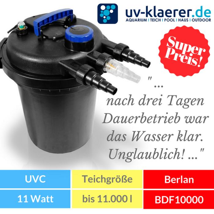 Druckfilter mit UVC Berlan BDF 10.000