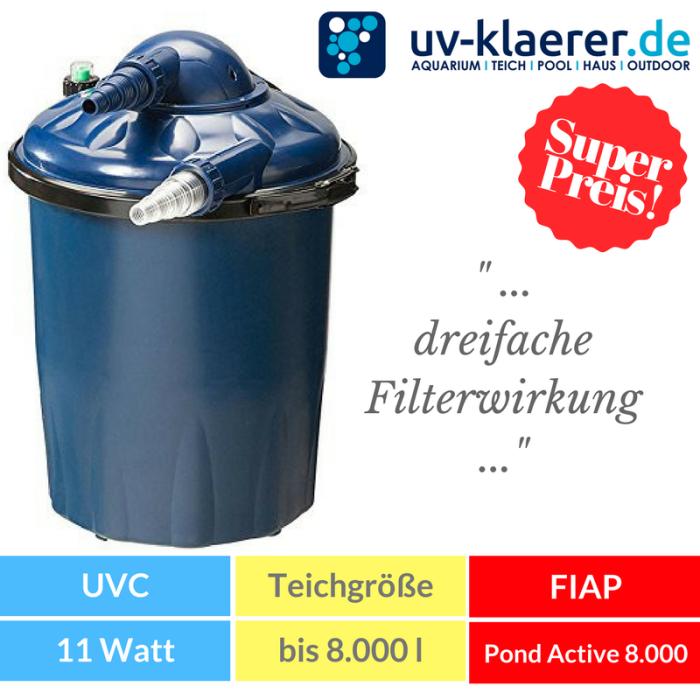 Druckfilter mit UVC FIAP Pond Active 8.000