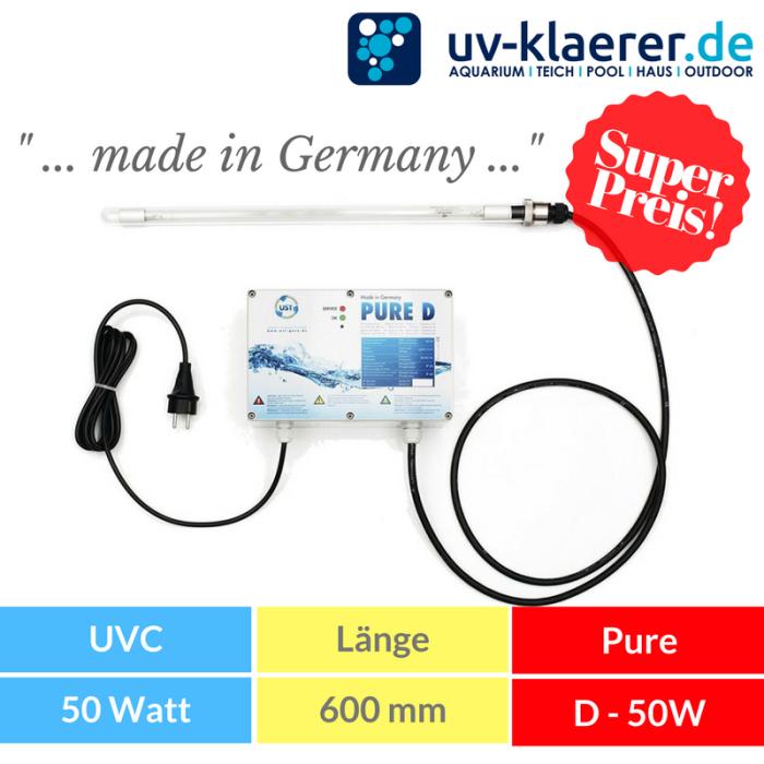 Tauchstrahler PURE D - 50W - UVC Anlage zur Trinkwasser Sterilisation