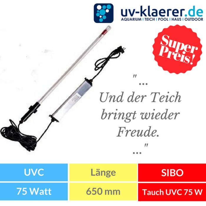 Tauchstrahler Tauch UVC Klärer 75 Watt (VG)