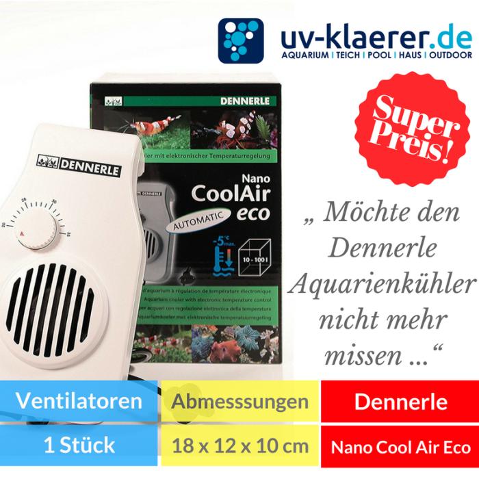 Aquarium-Kühler Dennerle 5663 Aquarienkühler Nano Cool Air Eco Meerwasser Süßwasser Kaltwasser