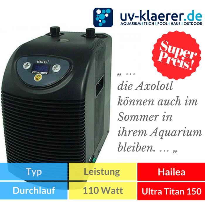 Aquarium-Kühler Hailea Ultra Titan 150 Meerwasser Süßwasser Kaltwasser