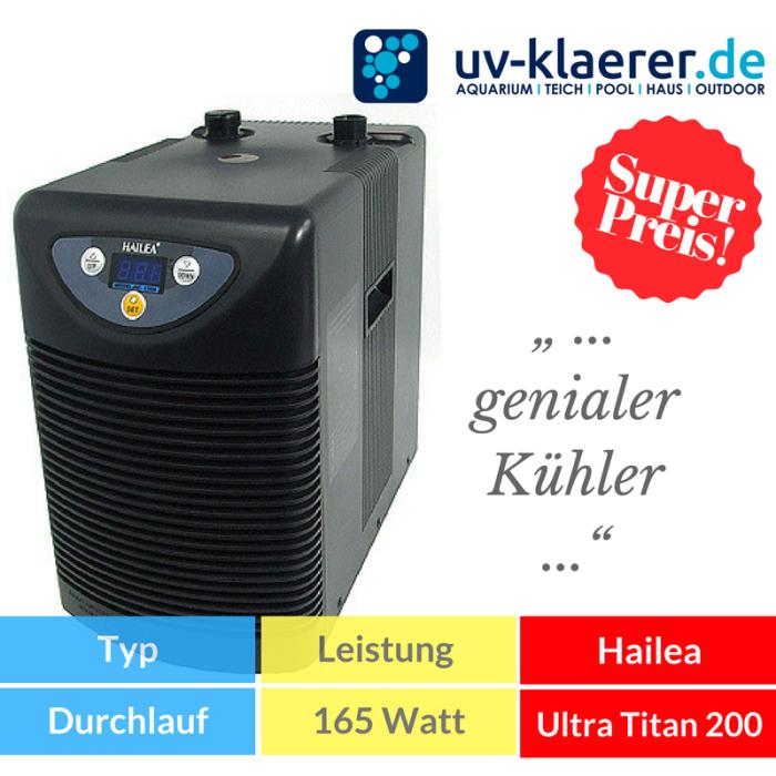 Aquarium-Kühler Hailea Ultra Titan 200 Meerwasser Süßwasser Kaltwasser