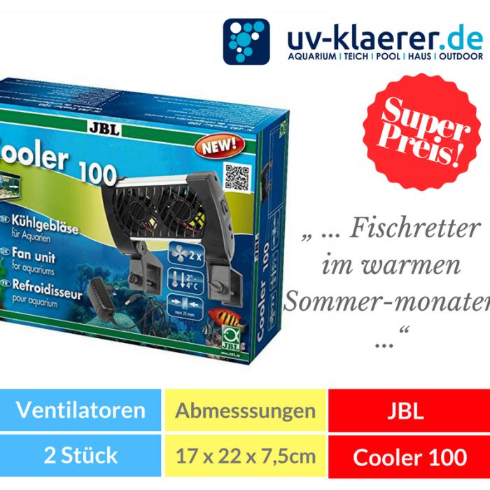 Aquarium-Kühler JBL Cooler 100 Meerwasser Süßwasser Kaltwasser