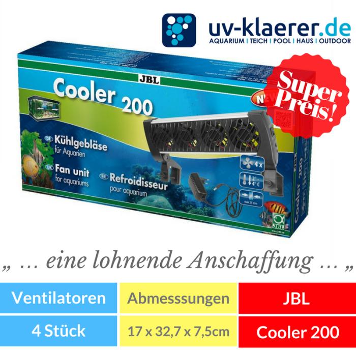Aquarium-Kühler JBL Cooler 200 Meerwasser Süßwasser Kaltwasser