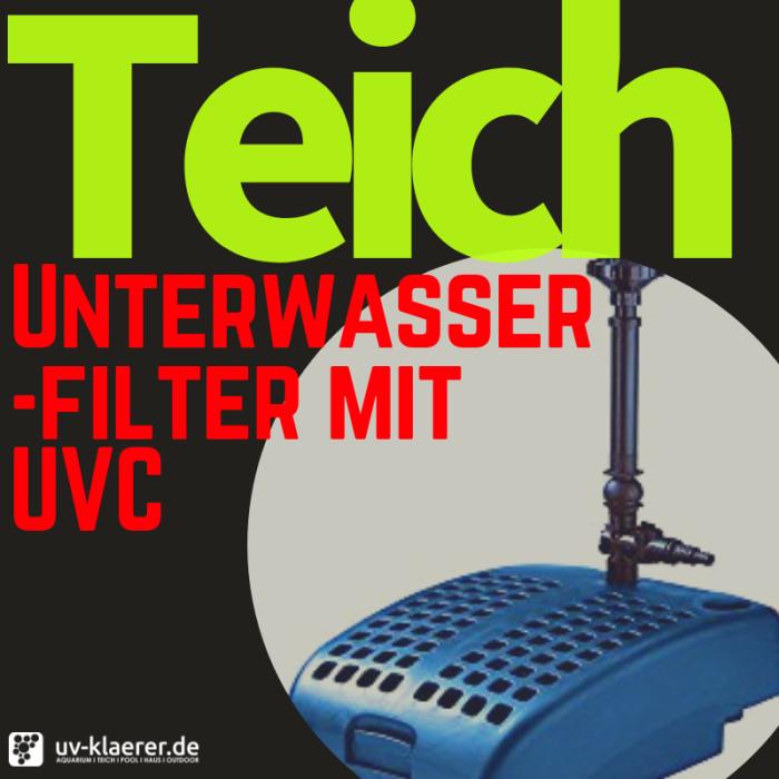 Unterwasserfilter mit UVC für den Teich